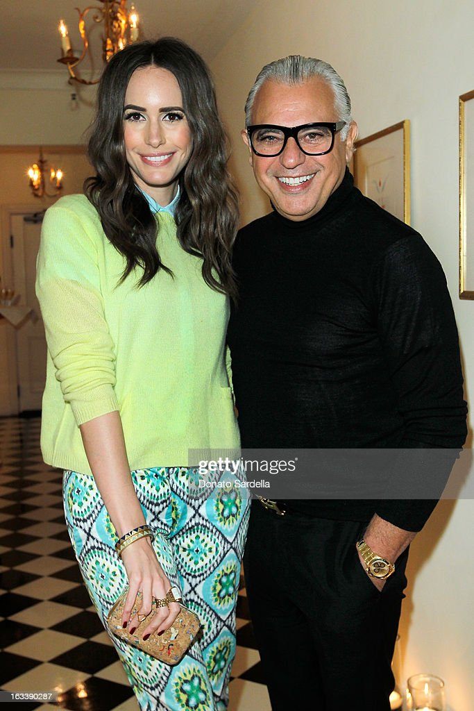 Louise Roe and Joe Mimran attend Joe Fresh private dinner hosted by Joe Mimran and Kate Mara at The Chateau Marmont on March 8, 2013 in Los Angeles, California.