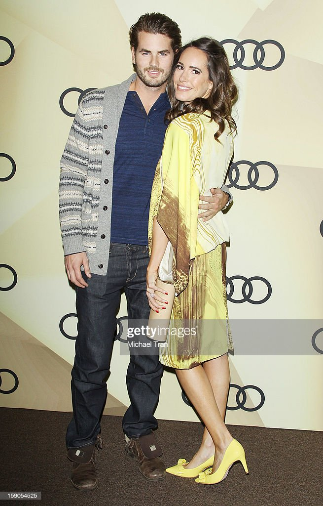 <a gi-track='captionPersonalityLinkClicked' href=/galleries/search?phrase=Louise+Roe&family=editorial&specificpeople=4300958 ng-click='$event.stopPropagation()'>Louise Roe</a> and Josh Slack arrive at the Audi Golden Globe 2013 kick off cocktail party held at Cecconi's Restaurant on January 6, 2013 in Los Angeles, California.