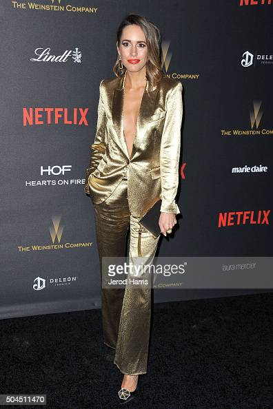 Louise Roe arrives at the 2016 Weinstein Company and Netflix Golden Globes After Party on January 10 2016 in Los Angeles California