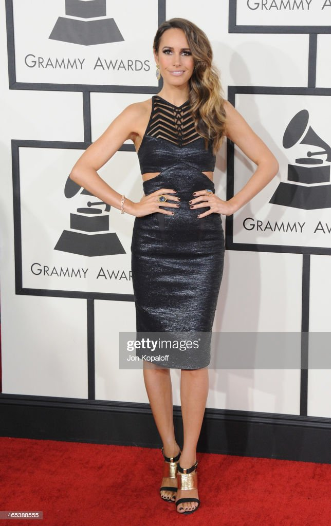 Louise Roe arrives at the 56th GRAMMY Awards at Staples Center on January 26, 2014 in Los Angeles, California.