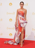 Louise Roe arrives at the 66th Annual Primetime Emmy Awards at Nokia Theatre LA Live on August 25 2014 in Los Angeles California