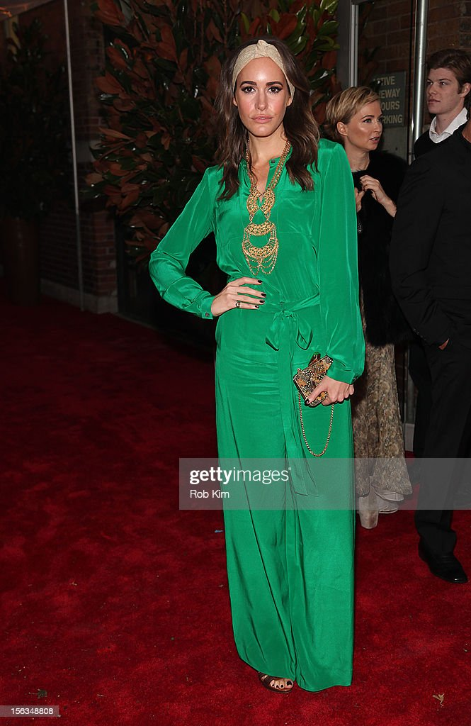 Louise Roe arrives at The Ninth Annual CFDA/Vogue Fashion Fund Awards at 548 West 22nd Street on November 13, 2012 in New York City.