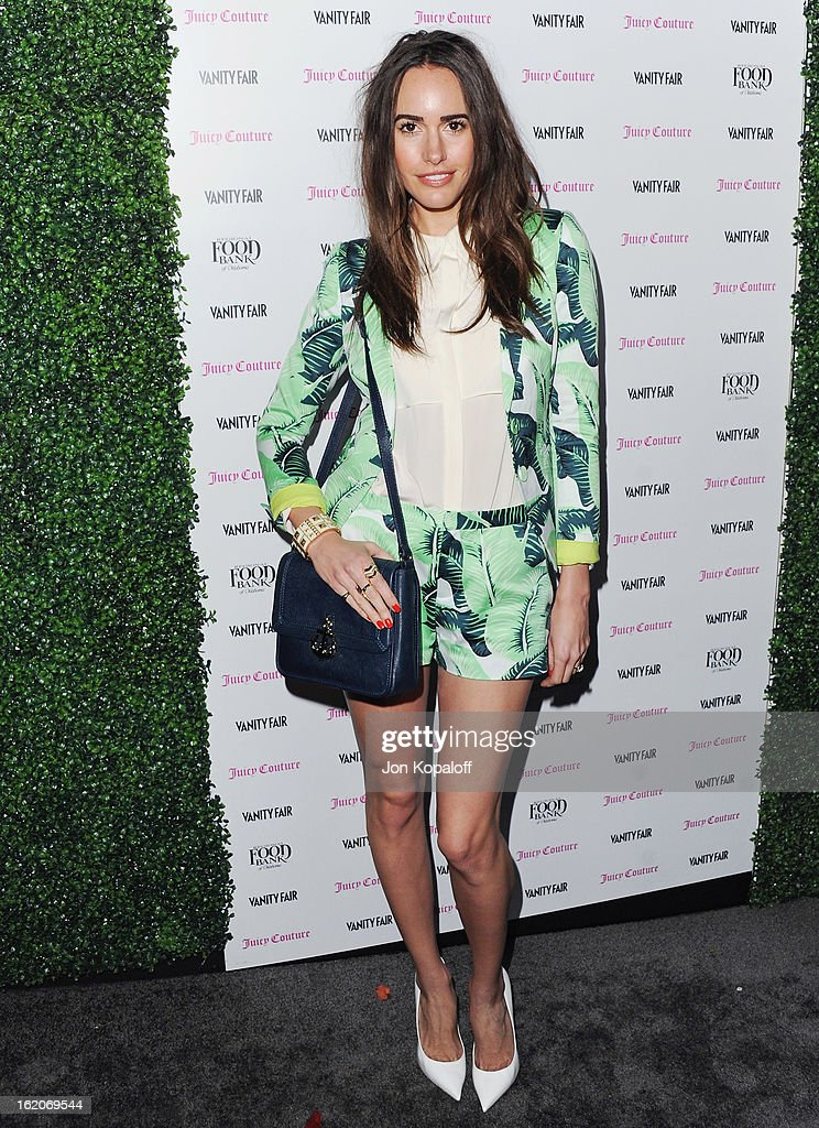 Louise Roe arrives at the Vanity Fair And Juicy Couture Celebration Of The 2013 Vanities Calendar at Chateau Marmont on February 18, 2013 in Los Angeles, California.