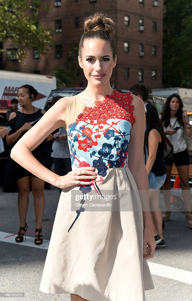 Louise Roe attends 2014 Mercedes-Benz Fashion Week during day 4 on September 8, 2013 in New York City.