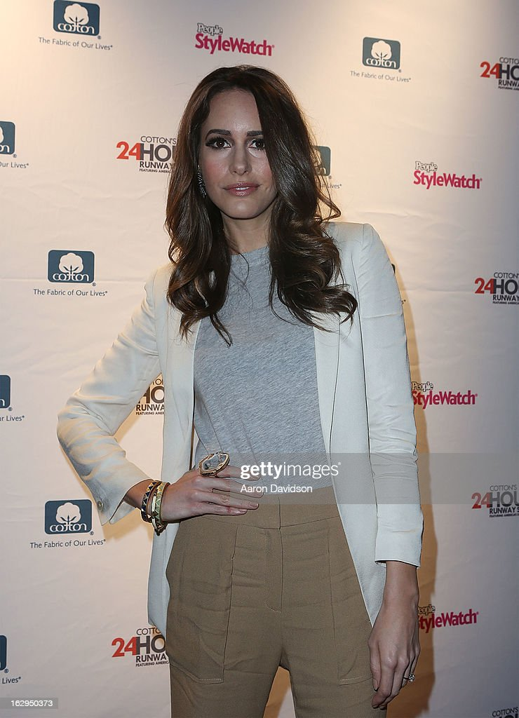 <a gi-track='captionPersonalityLinkClicked' href=/galleries/search?phrase=Louise+Roe&family=editorial&specificpeople=4300958 ng-click='$event.stopPropagation()'>Louise Roe</a> attends Cotton's 24 Hour Runway Show On South Beach on March 1, 2013 in Miami Beach, Florida.