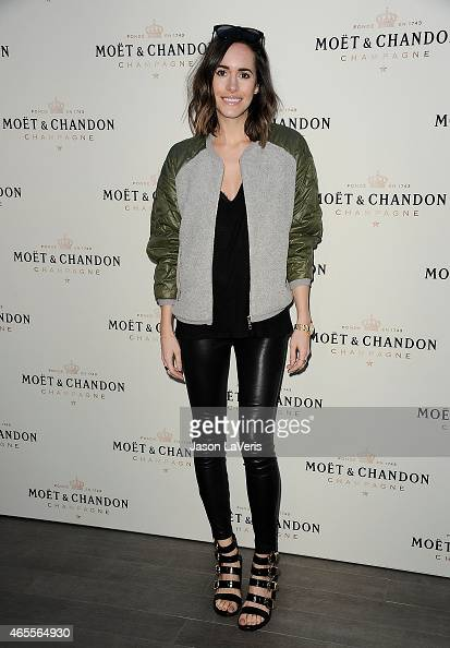 Louise Roe attends Moet Chandon's celebration of Roger Federer's 1000th career match win at The Four Seasons Hotel on March 7 2015 in Beverly Hills...