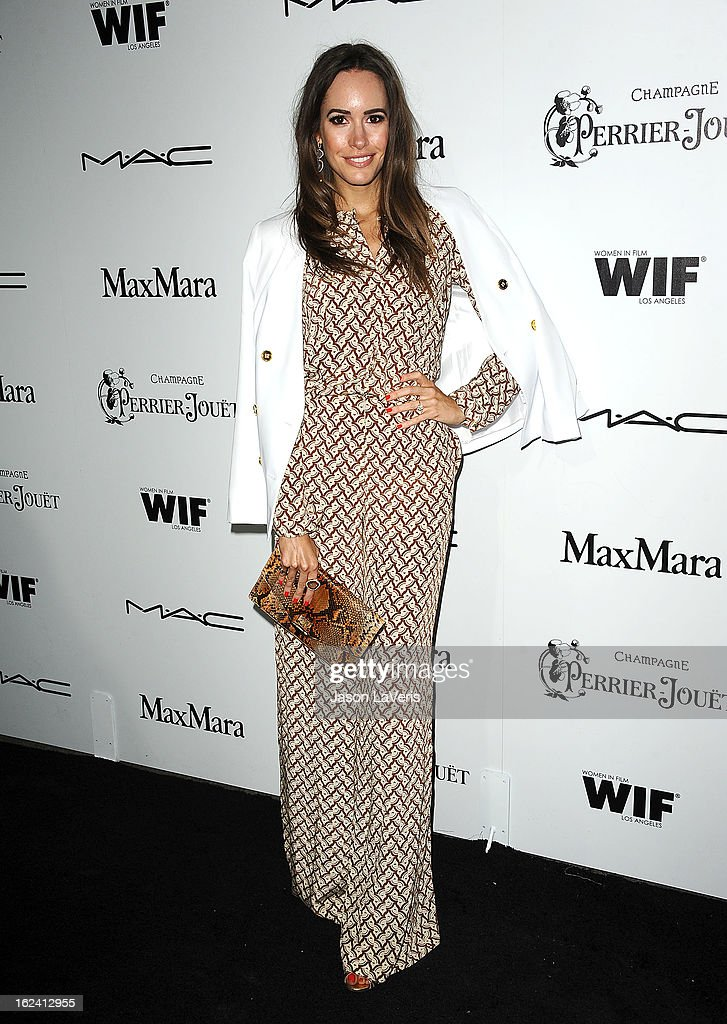 Louise Roe attends the 6th annual Women In Film pre-Oscar cocktail party at Fig & Olive Melrose Place on February 22, 2013 in West Hollywood, California.