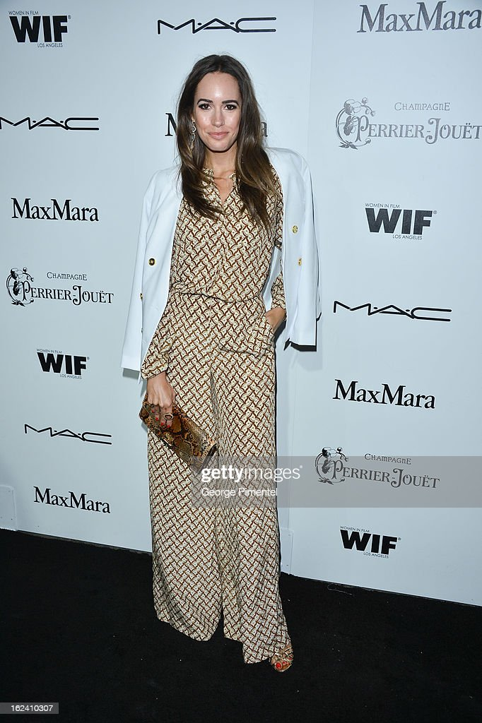Louise Roe attends the 6th Annual Women In Film Pre-Oscar Party hosted by Perrier Jouet, MAC Cosmetics and MaxMara at Fig & Olive on February 22, 2013 in Los Angeles, California.