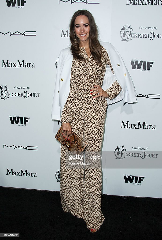 Louise Roe attends the 6th Annual Women In Film Pre-Oscar Party hosted by Perrier Jouet, MAC Cosmetics and MaxMara at Fig & Olive Melrose Place on February 22, 2013 in West Hollywood, California.