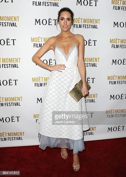 Louise Roe attends the Moet and Chandon celebration of The Golden Globes on January 8 2016 in West Hollywood California