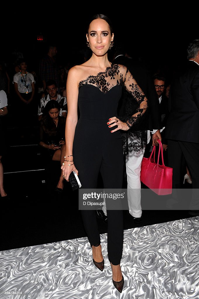 Louise Roe attends the Monique Lhuillier fashion show during MercedesBenz Fashion Week Spring 2015 at The Theatre at Lincoln Center on September 5...