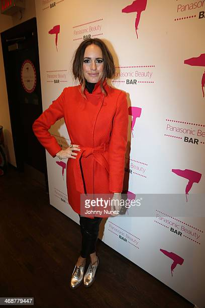 Louise Roe attends the Panasonic Beauty Bar During New York Fashion Week at Salon SCK on February 11 2014 in New York City