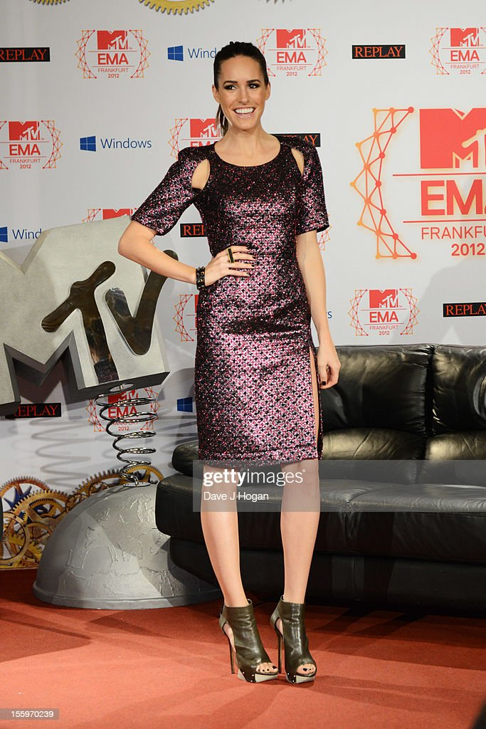 Louise Roe attends the photocall ahead of the MTV EMA's 2012 at Frankfurt City Hall on November 10, 2012 in Frankfurt am Main, Germany.