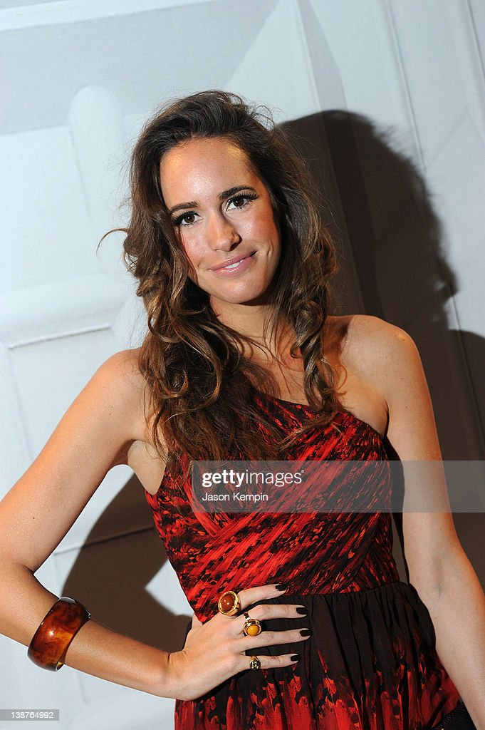 Louise Roe attends the Tibi Fall 2012 fashion show during MercedesBenz Fashion Week at The Stage at Lincoln Center on February 11 2012 in New York...