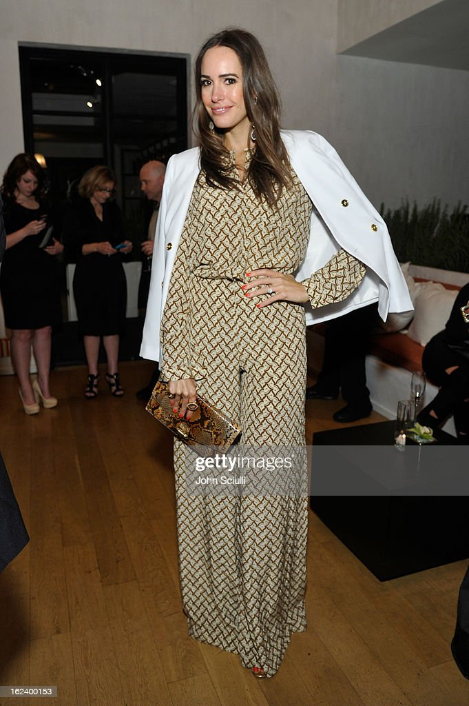 Louise Roe attends the Women In Film's 6th Annual Pre-Oscar Party hosted by Perrier Jouet, MAC Cosmetics and MaxMara at Fig & Olive on February 22, 2013 in Los Angeles, California.