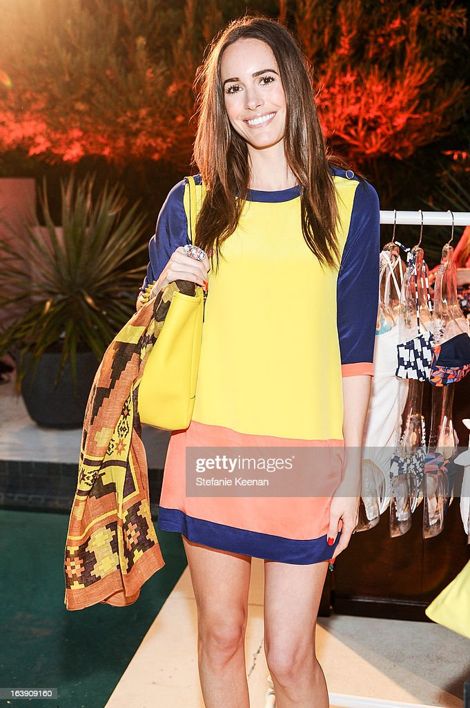 Louise Roe attends Theodora And Callum Cocktail Party on March 13, 2013 in Beverly Hills, California.