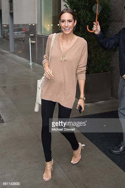 Louise Roe is seen in the Flatiron District on October 3 2015 in New York City