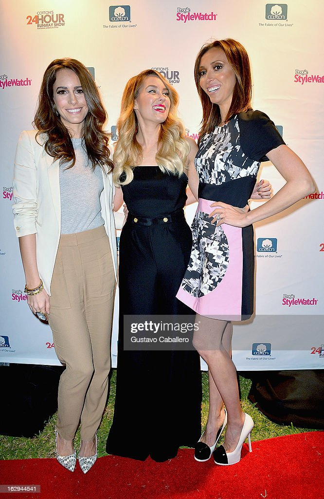 Louise Roe, Lauren Conrad and Giuliana Rancic attends Cotton's 24 Hour Runway Show on South Beach on March 1, 2013 in Miami Beach, Florida.