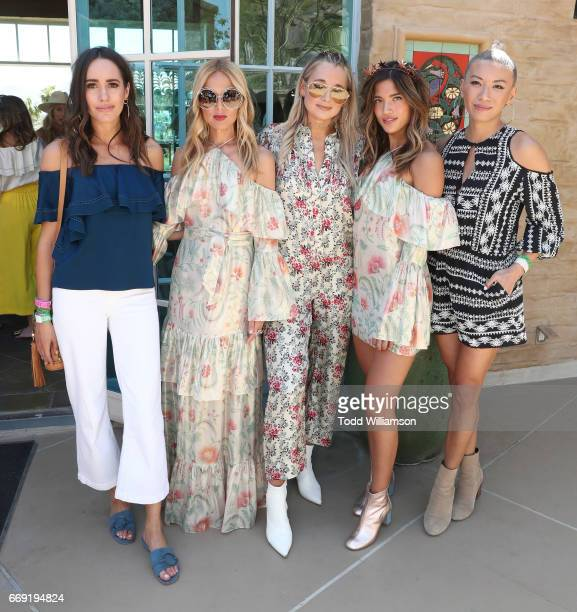 Louise Roe Rachel Zoe Danielle Bernstein Rocky Barnes and May Kwok attend The Zoe Report's ZOEasis on April 15 2017 in Palm Springs California