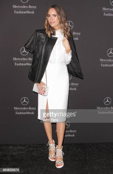 Louise Roe seen during MercedesBenz Fashion Week Spring 2015 at Lincoln Center for the Performing Arts on September 4 2014 in New York City
