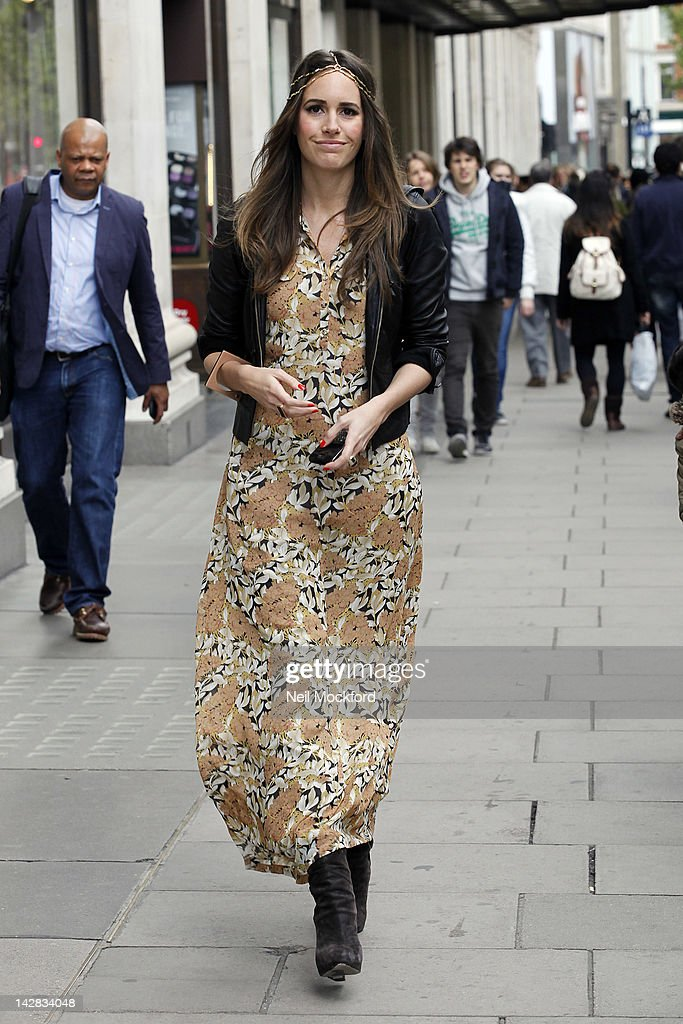 Louise Roe seen filming her new MTV show 'Plain Jane' outisde Selfridges on April 13, 2012 in London, England.