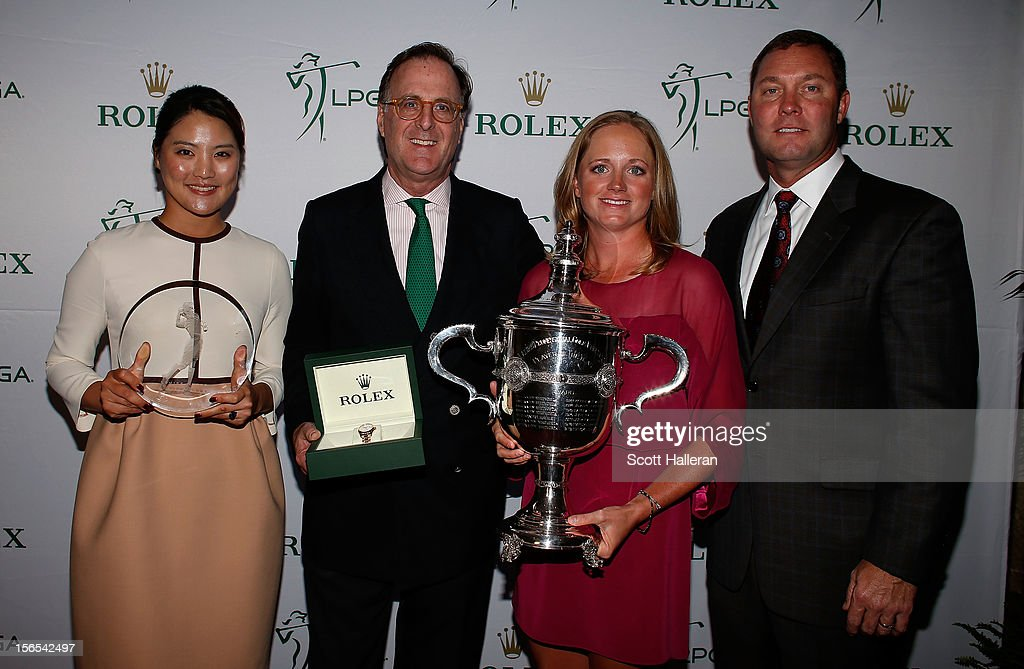 Louise Suggs Rolex Rookie of the Year So Yeon Ryu of South Korea, Peter Nicholson of Rolex, Rolex Player of the Year Stacy Lewis and LPGA commissioner Mike Whan pose at the LPGA Rolex Awards Celebration at the Ritz-Carlton Resort on November 16, 2012 in Naples, Florida.