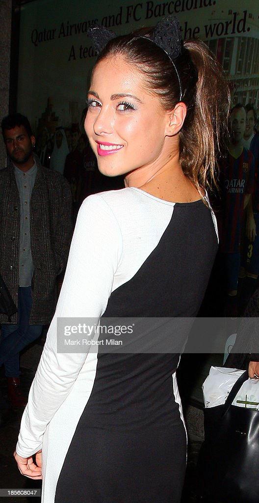 Louise Thompson attending the Claire's Accessories party on October 22, 2013 in London, England.
