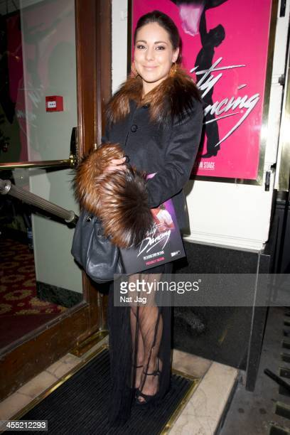 Louise Thompson attends 'Dirty Dancing' at the Piccadilly Theatre on December 11 2013 in London England