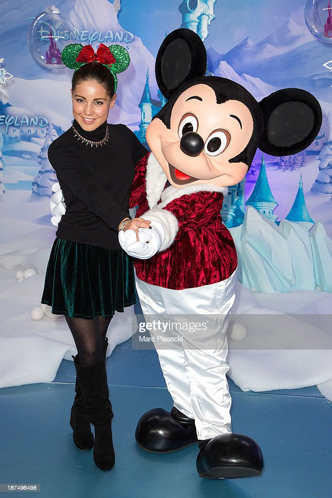 Louise Thompson attends the Christmas season launch at Disneyland Paris on November 9 2013 in Paris France