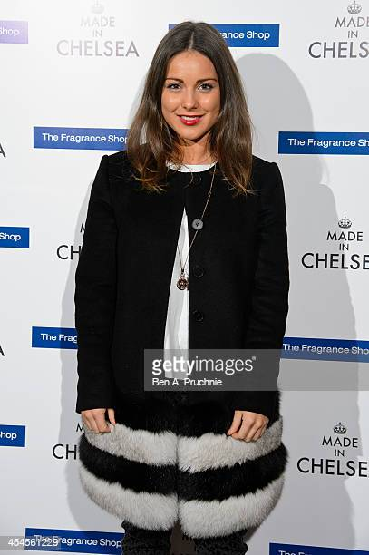 Louise Thompson attends the MAde in Chelsea perfume launch at Raffles on December 9 2013 in London England