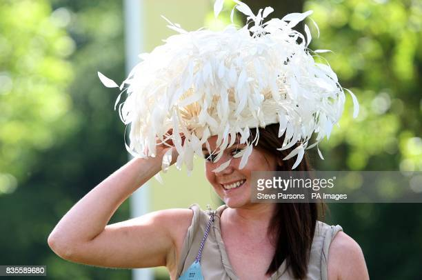 Louise Turner from Ascot shows off her fashion choices during day one at Ascot Racecourse Berkshire
