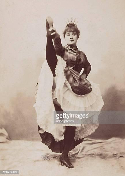 Louise Weber called La Goulue French cancan dancer Ca 1900