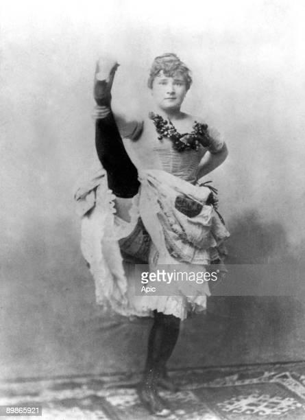 Louise Weber dite La Goulue danseuse de French cancan aux Folies Bergeres a Paris et modele de ToulouseLautrec