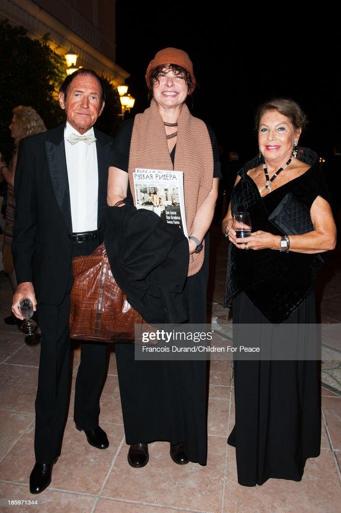 Louisette Azzoaglio, Gino Calmarini and Natasha Garilskaia attend the 'Opera Romeo and Juliette' : Gala to the benefit of the The Children for Peace association, on October 26, 2013 in Monte-Carlo, Monaco.