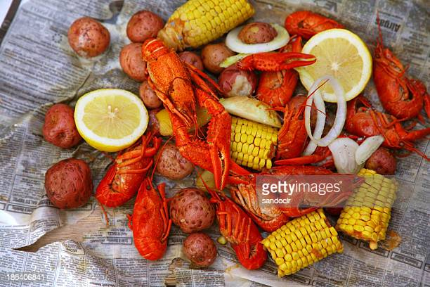 Louisiana crawfish bollire