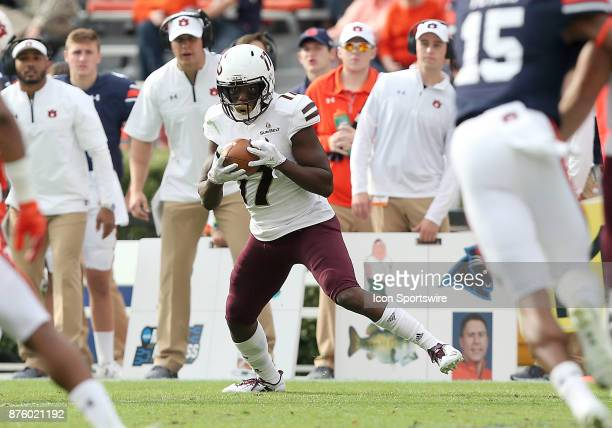 Louisiana Monroe Warhawks wide receiver Xavier Brown catches a pass during a football game between the Auburn Tigers and the LouisianaMonroe Warhawks...