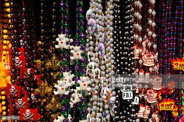 USA Louisiana New Orleans French Quarter Bourbon Street Bead Necklaces