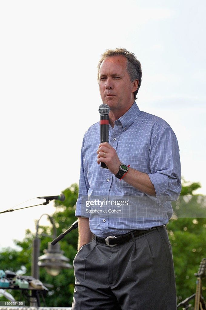 Louisville Mayor Greg Fischer speaks during the Abbey Road on the River Music Festival at The Belvedere on May 25, 2013 in Louisville, Kentucky.