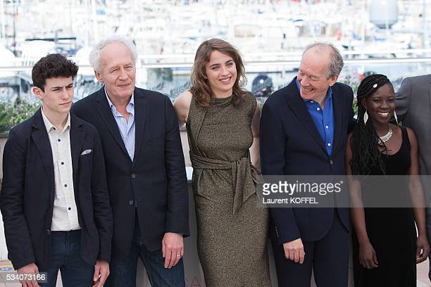 Louka Minnella JeanPierre Dardenne Adèle Haenel Luc Dardenne and Nadège Ouedraogo attend 'The Unknown Girl ' Photocall during the 69th annual Cannes...