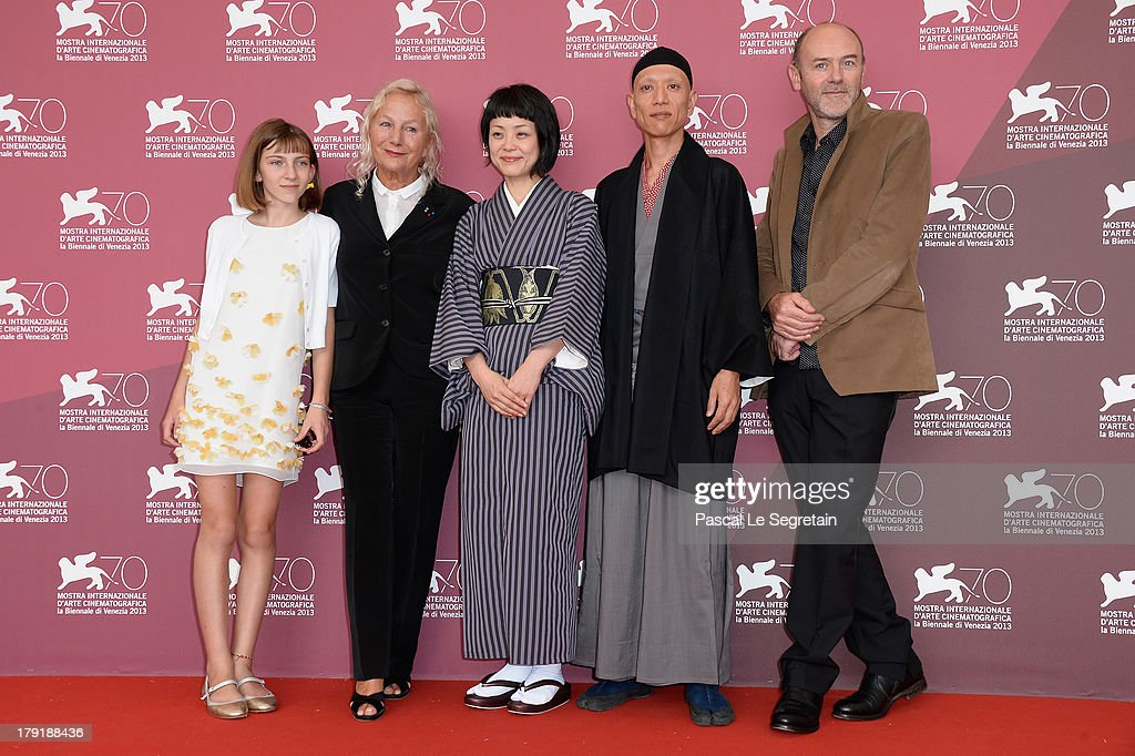 Lou-Lélia Demerliac , Agnès b., Jacques Bonaffe and guests attend 'Je M'Appelle Hmmm...' Photocall during the 70th Venice International Film Festival at the Palazzo Del Casino on September 1, 2013 in Venice, Italy.