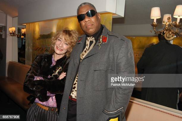 Loulou de la Falaise and Andre Leon Tally attend Andre Leon Talley and Robert Burke host at La Caravelle for Loulou de la Falaise Collection on...