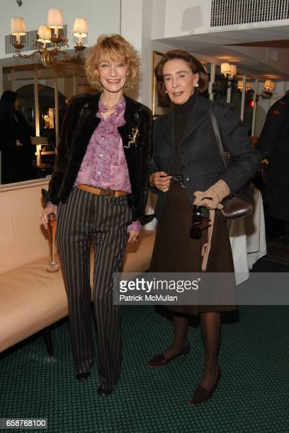 Loulou de la Falaise and Mica Ertegun attend Andre Leon Talley and Robert Burke host at La Caravelle for Loulou de la Falaise Collection on February...