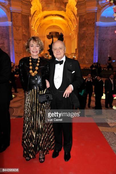 Loulou de la Falaise and Pierre Berge attend an Yves SaintLaurent event at Petit Palais on March 09 2010 in Paris France