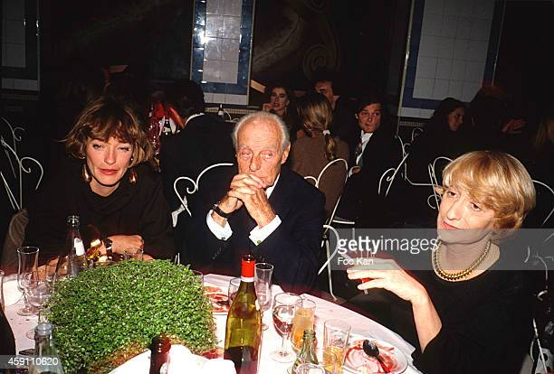 Loulou de La Falaise Baron Guy de Rothschild and Francoise Sagan attend a Private Dinner Party at Les Bains Douches in the 1980s in Paris France