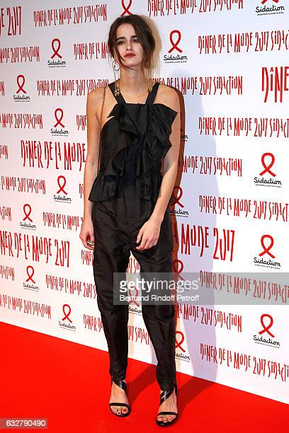 Loulou Robert attends the Sidaction Gala Dinner 2017 Haute Couture Spring Summer 2017 show as part of Paris Fashion Week on January 26 2017 in Paris...