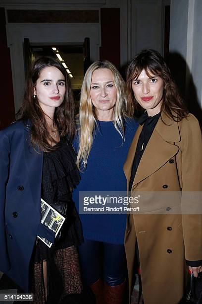 Loulou Robert Stylist of Sonia Rykiel Julie de Libran and Jeanne Damas pose after the Sonia Rykiel show as part of the Paris Fashion Week Womenswear...