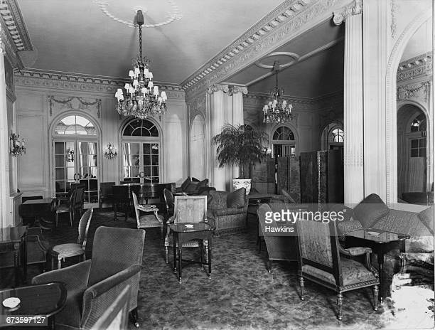 A lounge at the Hyde Park Hotel in Knightsbridge London 22nd April 1925