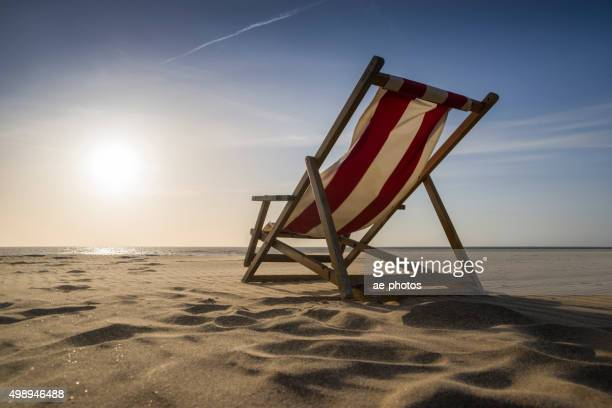 Lounge Chair on sunny day at beach