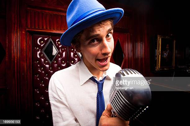 Lounge Singer with Microphone
