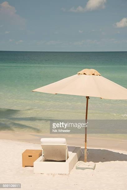 Lounger on beach on Phu Quoc Island